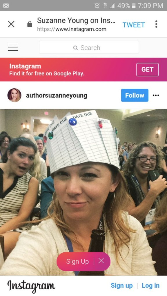 Photobombed Author Suzanne Young during FAME's Late Night Library Games